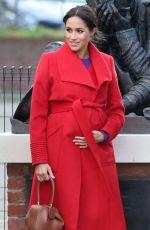 Pregnant MEGHAN MARKLE at Birkenhead at Hamilton Square 01/14/2019