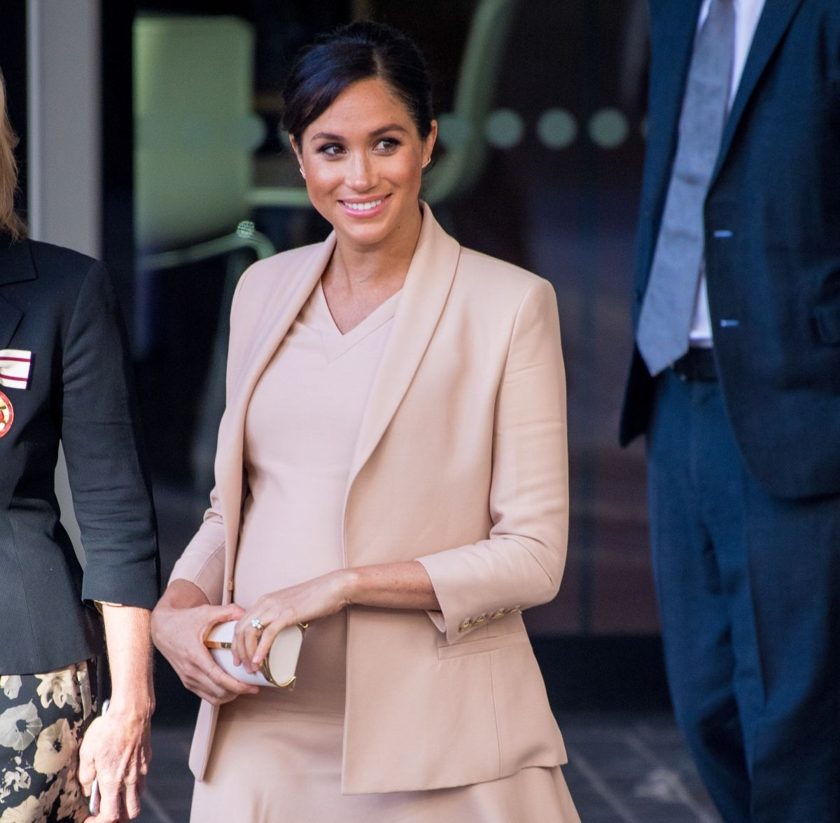 Pregnant MEGHAN MARKLE Leaves National Theatre In London