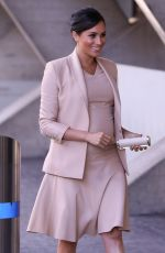 Pregnant MEGHAN MARKLE Leaves National Theatre in London 01/30/2019