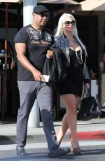 Pregnant SOPHIA VEGAS and Dan Charlier Out in Los Angeles 01/24/2019