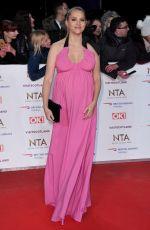 Pregnant TERESA PALMER at 2019 National Television Awards in London 01/22/2019