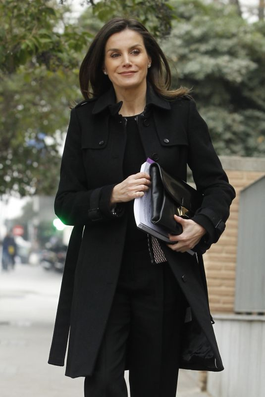 QUEEN LETIZIA OF SPAIN Out and About in Madrid 01/17/2019