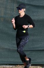 REESE WITHERSPOON Out Jogging in Brentwood 01/26/2019