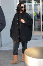 RIHANNA at JFK Airport in New York 01/28/2019