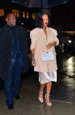 RIHANNA Out for Dinner in New York 01/29/2019