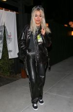 RITA ORA Out for Dinner in West Hollywood 01/21/2019