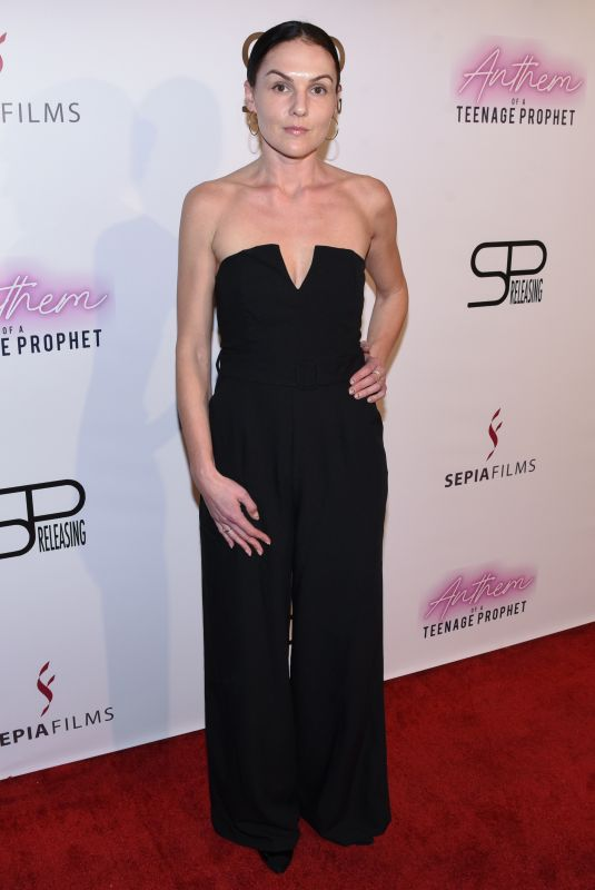 ROBIN HAYS at Anthem of a Teenage Prophet Premiere in Hollywood 01/10/2019