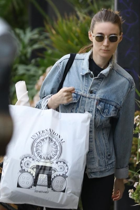 ROONEY MARA Out Shopping in West Hollywood 01/29/2019