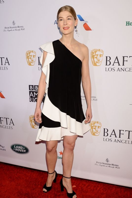 ROSAMUND PIKE at Bafta Tea Party in Los Angeles 01/05/2019