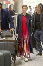 ROSAMUND PIKE at Heathrow Airport in London 01/08/2019