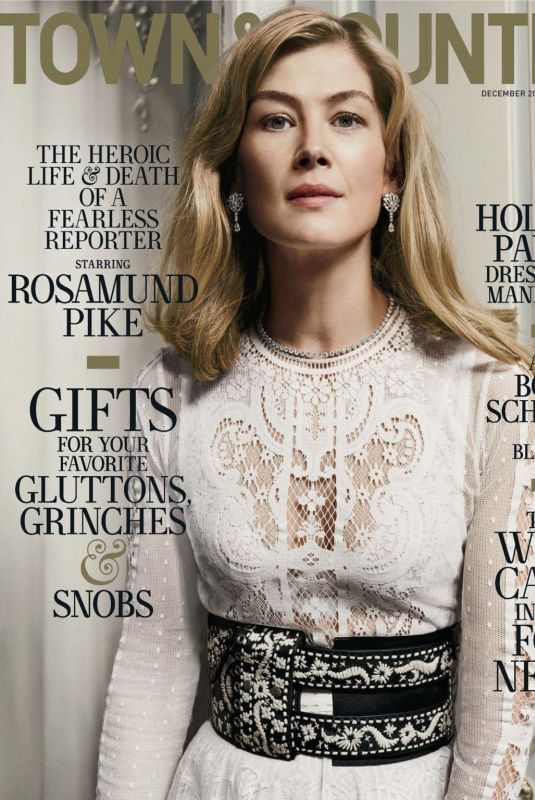 ROSAMUND PIKE in Town & Country Magazine, December 2018/January 2019
