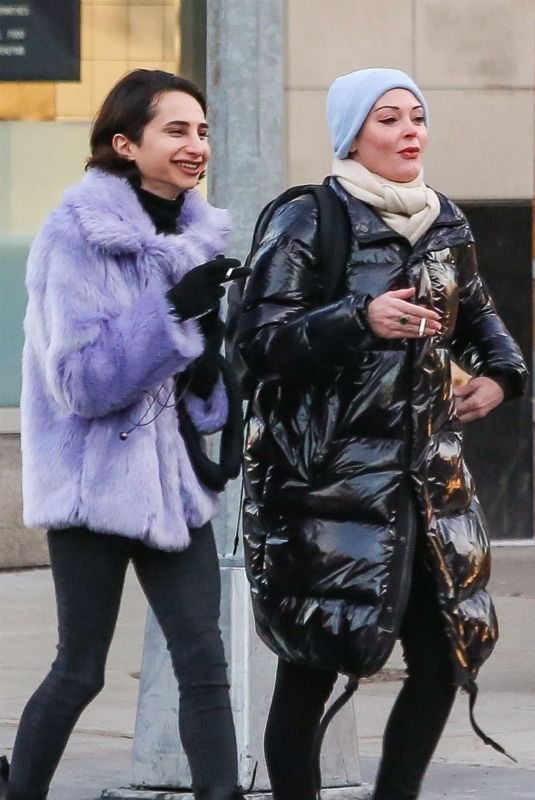 ROSE MCGOWAN Out with a Friend in New York 01/28/2019