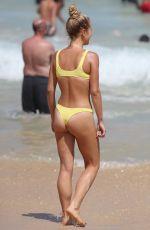 SAILOR BRINKLEY in Yellow Bikini at Bondi Beach in Sydney 01/26/2019