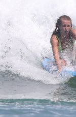 SAILRO BRINKLEY in BIkini Out Surfing 01/21/2019