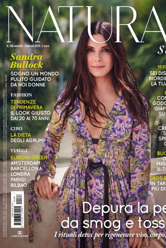 SANDRA BULLOCK in Natural Style Magazine, February 2019