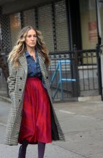 SARAH JESSICA PARKER on the Set of Divorce in New York 01/18/2019