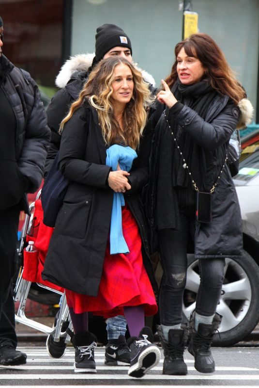 SARAH JESSICA PARKER on the Set of Divorce in New York 01/22/2019