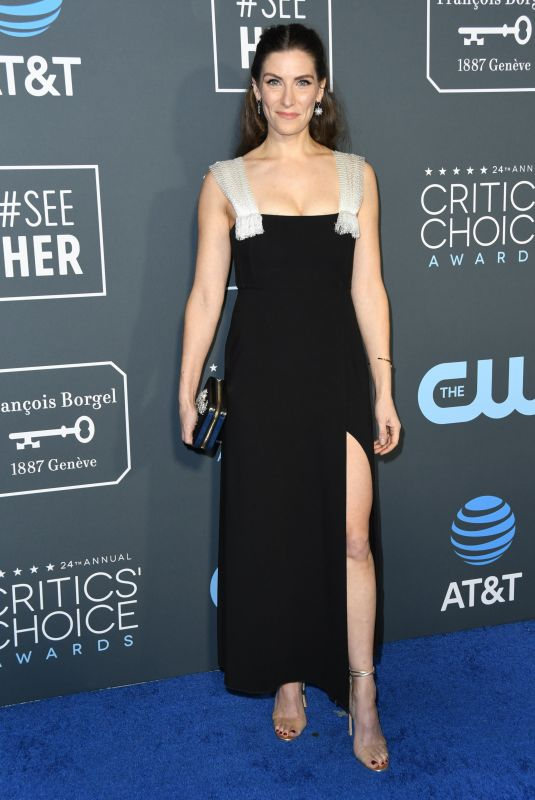 SARAH LEVY at 2019 Critics' Choice Awards in Santa Monica 01/13/2019