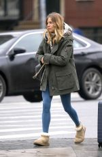 SIENNA MILLER Out and About in New York 01/08/2019