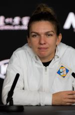 SIMONA HALEP at 2019 Australian Open Press Conference in Melbourne 01/15/2019