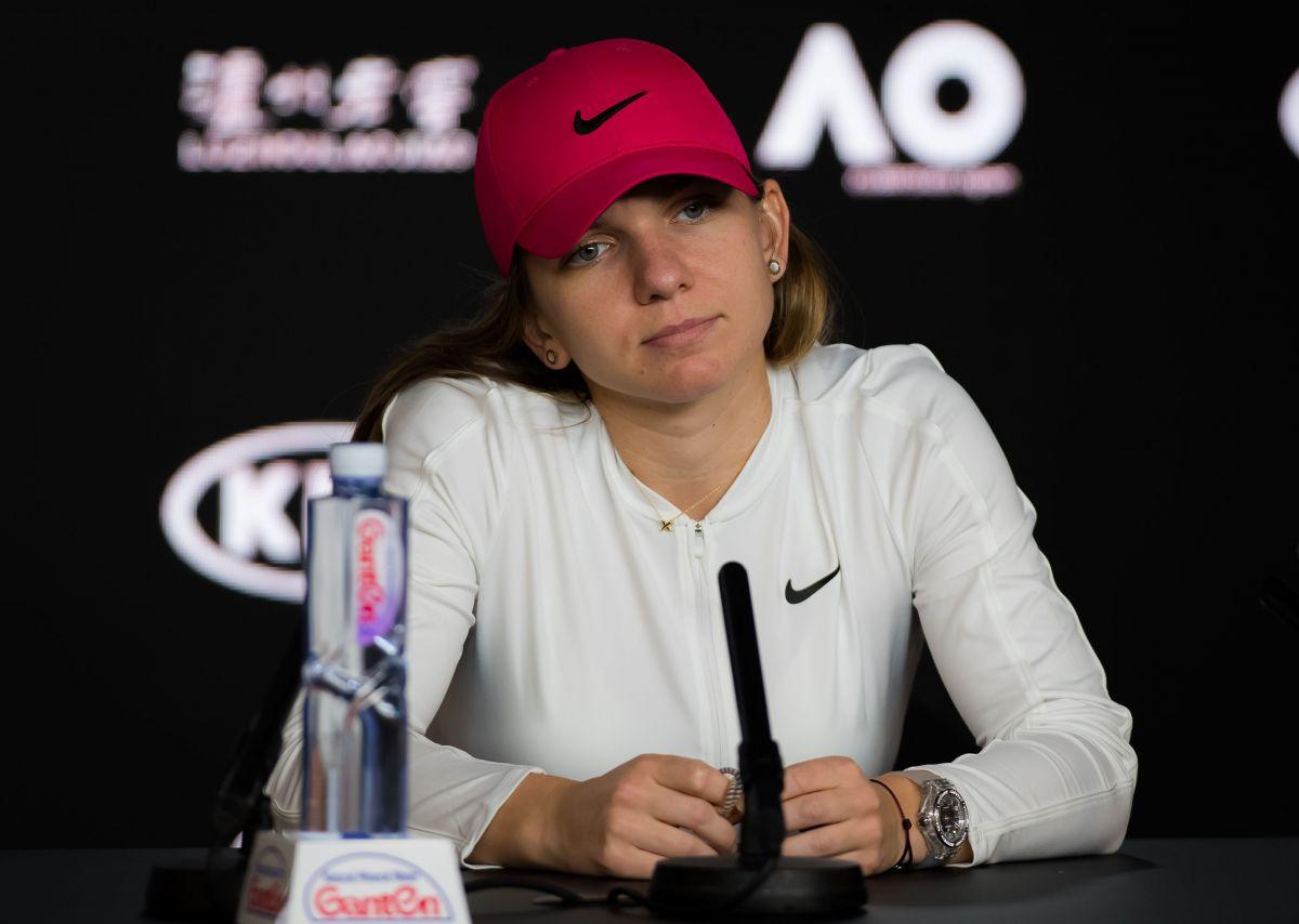 SIMONA HALEP at 2019 Australian Open Press Conference in Melbourne 01/19/2019