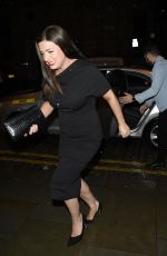 SOPHIE AUSTIN Arrives at Faye Brookes and Gareth Gates Engagement Party in Manchester 01/27/2019