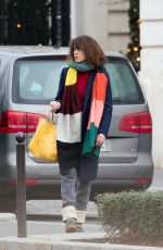 SOPHIE MARCEAU Leaves Shangri-la Hotel in Paris 08/01/2019
