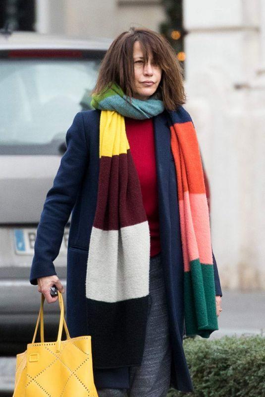 SOPHIE MARCEAU Leaves Shangri-la Hotel in Paris 08/01/2019