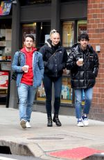 SOPHIE TURNER and Joe and Kevin Jonas Out in New York 01/19/2019