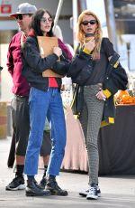 STELLA MAXWELL and LANGLEY FOX at Rosebowl Flea Market in Pasadena 01/14/2019