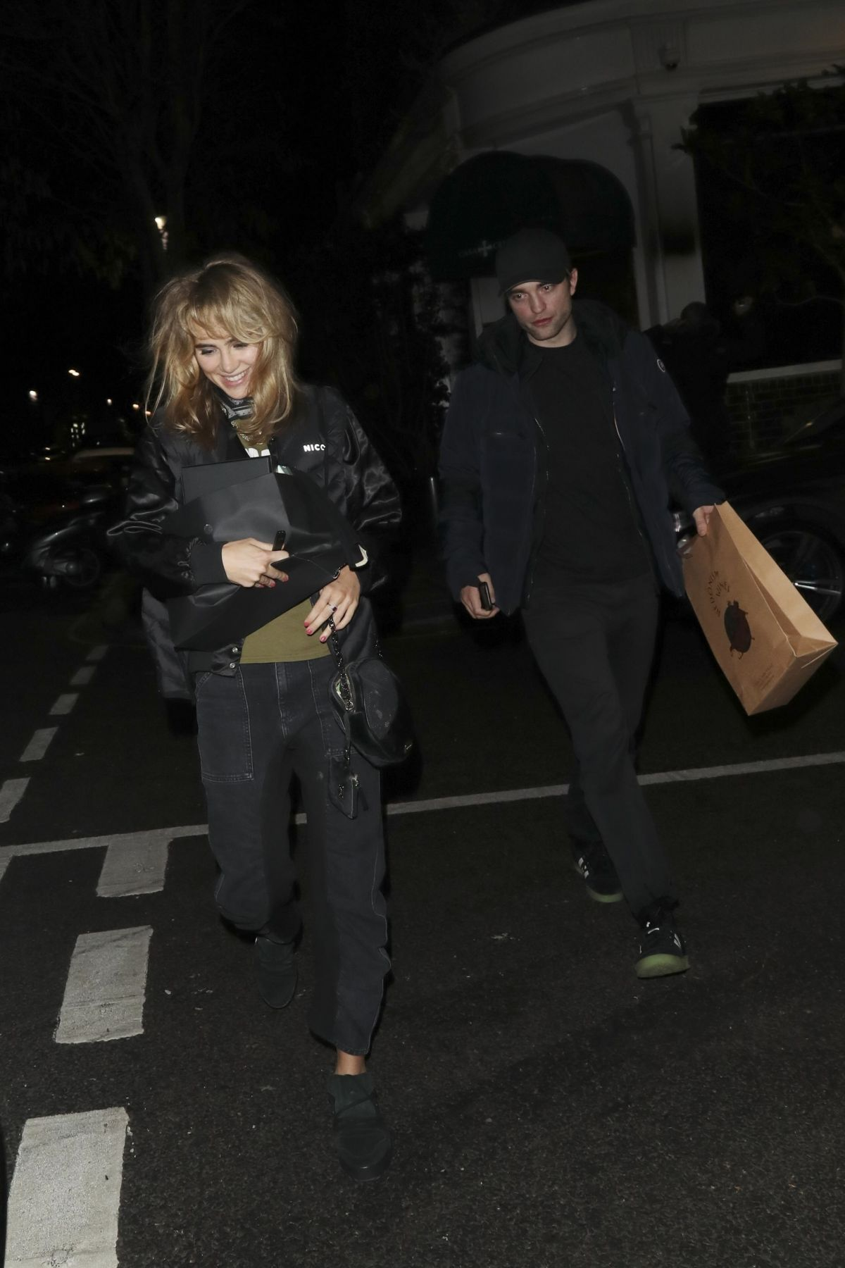SUKI WATERHOUSE and Robert Pattinson Leaves Casa Cruz in London 01/11/2019