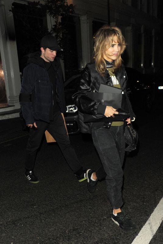 SUKI WATERHOUSE and Robert Pattinson Leaves Casa Cruz in London 01/11/2019