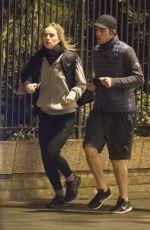 SUKI WTAERHOUSE and Robert Pattinson Out Jogging in London 01/25/2019