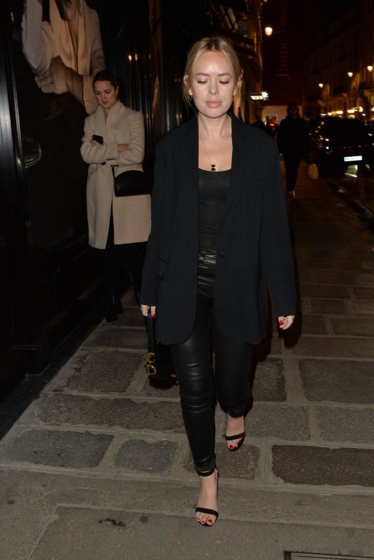 TANYA BURR Night Out in Paris 01/21/2019