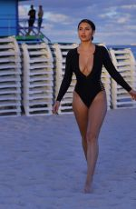TAO WICKRATH in Swimsuit on the Beach in Miami 01/08/2019
