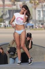 TAYLOR HILL on the Set of VS Photoshoot in Venice Beach 01/10/2019