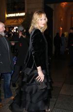 UMA THURMAN Arrives at Place Vendome in Paris 01/22/2019