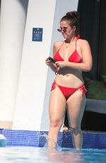 VICKY PATTISON in a Red Bikini at a Pool in Tulum 01/08/2019