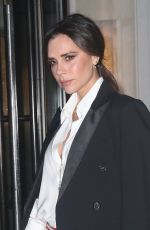 VICTORIA BECKHAM Leaves Her Hotel in New York 01/24/2019