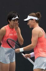 ZHANG SHUAI and SAMANTHA STOSUR at 2019 Australian Open at Melbourne Park 01/16/2019
