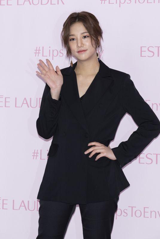AHN SOL-BIN at Estee Lauder Fashion Photocall in Seoul 02/13/2019