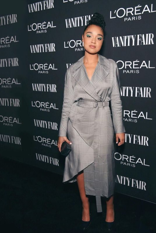 AISHA DEE at Vanity Fair & L'Oreal Paris Celebrate New Hollywood in Los Angeles 02/19/2019