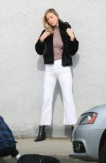 ALANA HADID on the Set of a Photoshoot on Melrose Avenue 02/04/2019
