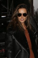 ALESSANDRA AMBROSIO Arrives at Her Hotel in New York 02/12/2019