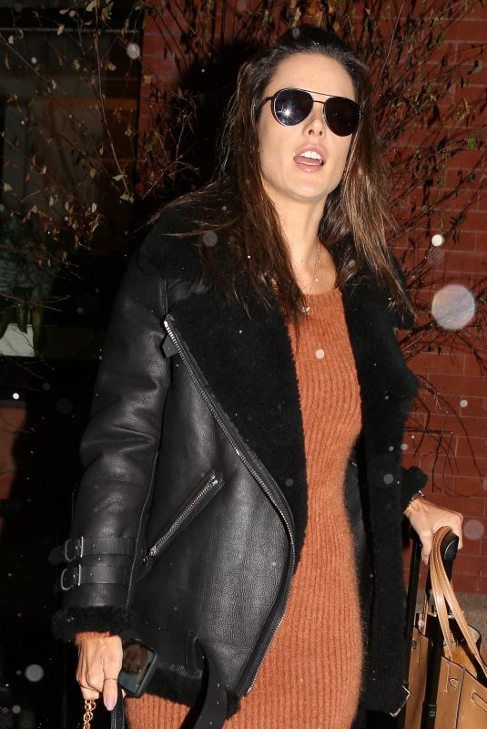 ALESSANDRA AMBROSIO Night Out in New York 02/12/2019