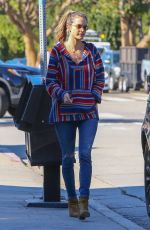 ALESSANDRA AMBROSIO Out and About in Brentwood 02/11/2019