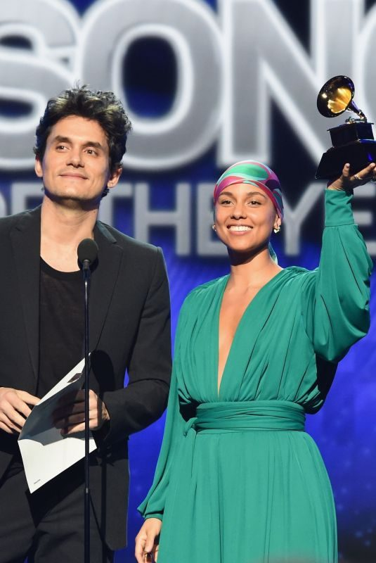 ALICIA KEYS and John Mayer at 2019 Grammy Awards in Los Angeles 02/10/2019