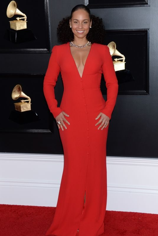 ALICIA KEYS at 61st Annual Grammy Awards in Los Angeles 02/10/2019