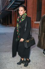 ALICIA VIKANDER Leaves Highline Stages in New York 02/18/2019