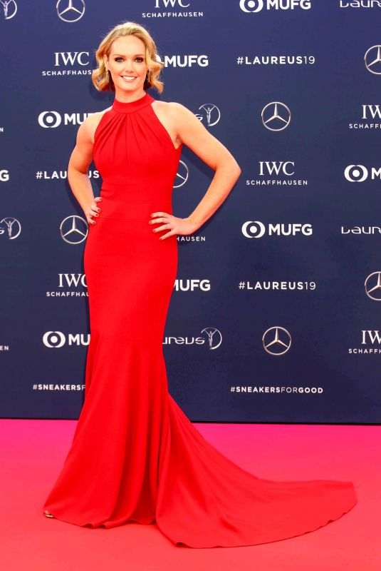 AMANDA DAVIES at 2019 Laureus World Sports Awards in Monaco 02/18/2019